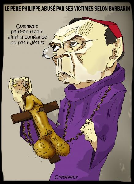 Barbarin accablait les victtimes des prêtres violeurs.JPG