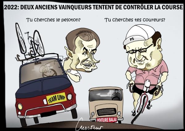 Sarkozy et Hollande dans la course.JPG