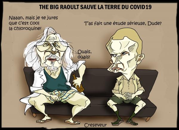 Macron, Raoult et la chloroquine.JPG