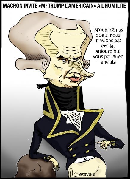 Macron se prend pour Lafayette.JPG