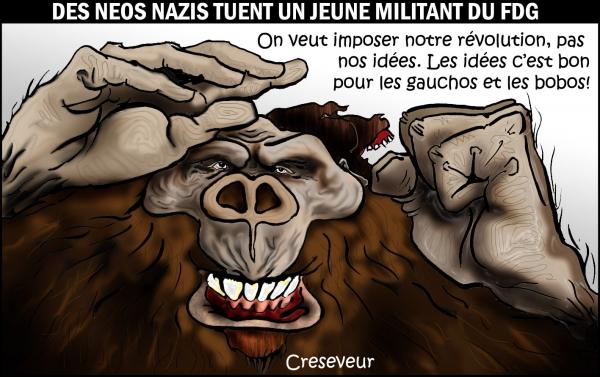 Les fascistes massacrent un militant du FDG .JPG