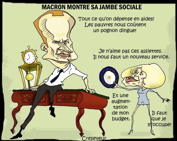 Macron montre sa jambe sociale.JPG