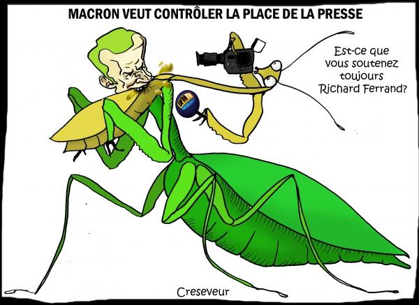 Macron invite la presse à ne pas parler des affaires.JPG