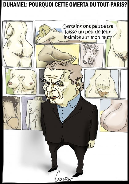 olivier duhamel,pédophilie,incete,camille kouchner,la grande familia,dessin de presse,caricature