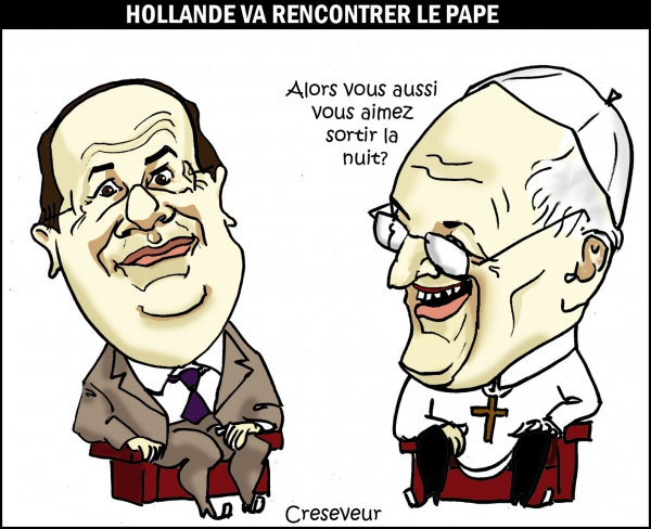 Hollande et le pape François .JPG