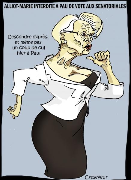 Alliot-Marie refusée au vote pour les sénatoriales.JPG