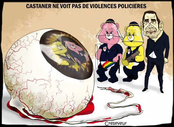 Pas de violence policières selon Castaner.jpg