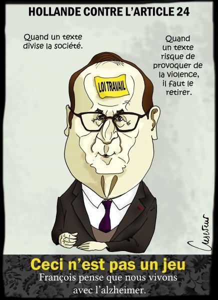 Hollande contre la loi sécurité.JPG