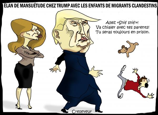 Trump revient sur l'emprisonnement des enfants de migrants.JPG