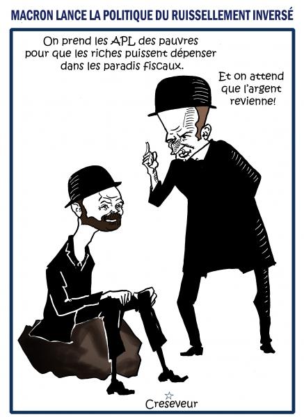 Macron sucre les riches sur les APL.JPG