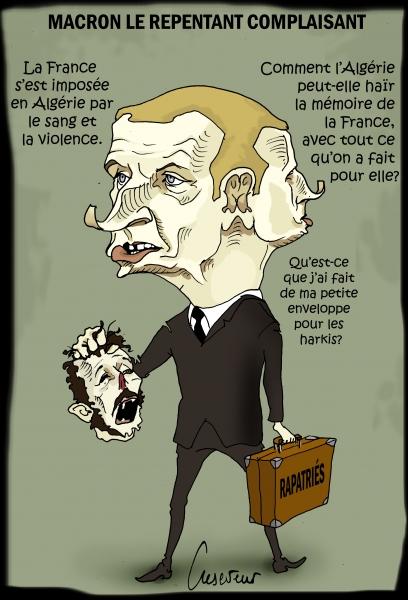 Macron le Janus de la question algérienne.JPG