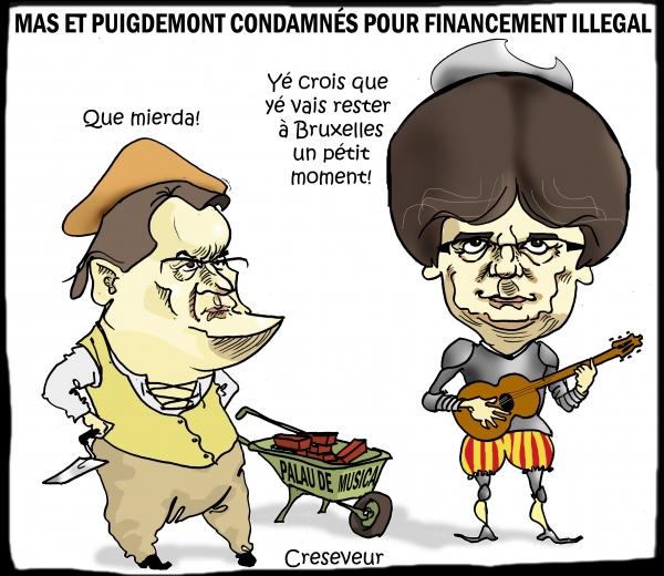 Puigdemont condamné pour financement illégal de son parti.JPG