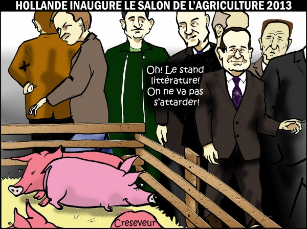 Hollande au salon 2013  .JPG