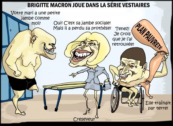 Brigitte Macron joue dans Vestiaires.JPG