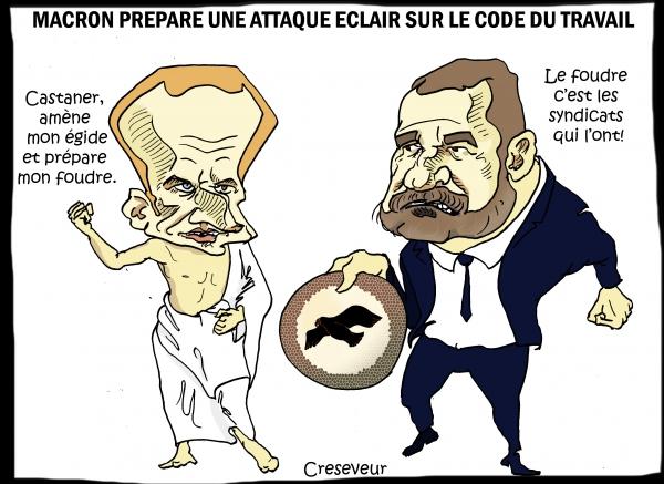 Macron veut passer en force sur le code du travail.JPG