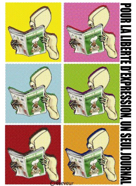 Charlie Hebdo, liberté d'expression, cabu, honoré, charb, dessin de presse