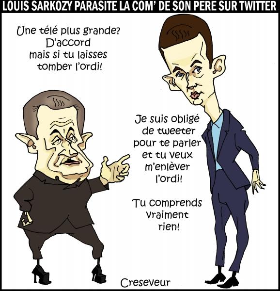 Louis trolle la com de Sarkozy sur Twitter.JPG