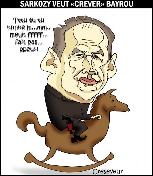 Bayrou ne craint pas les menaces de Sarkozy.JPG