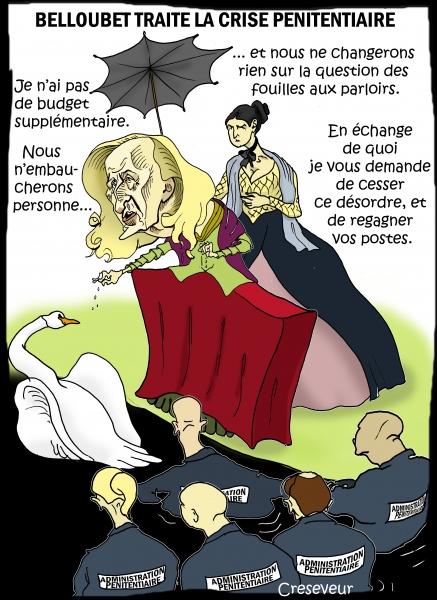 Belloubet gère la crise pénitentiaire.JPG