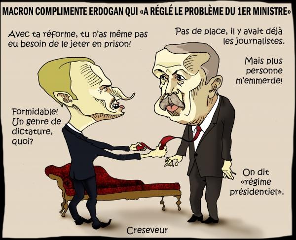 Macron emballé par la dictature.JPG