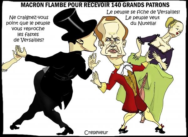 Macron reçoit 140 grands patrons à Versailles.JPG