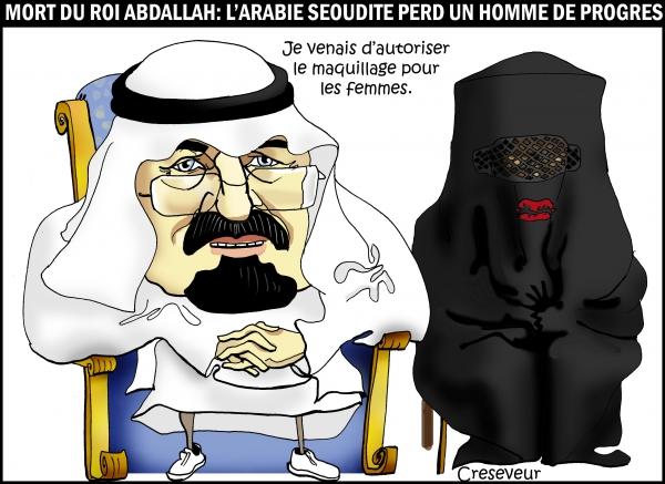 Abdallah, roi d'Arabie Saoudite est mort.JPG