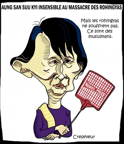 Aung san suu kyi insensible au sort des rokingyas.JPG