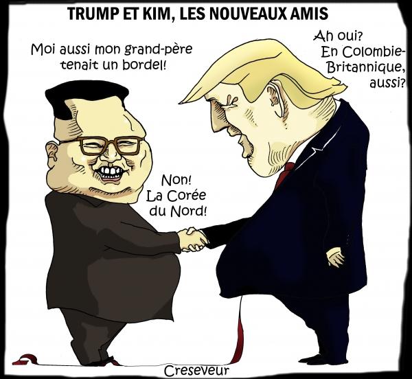 Kim et Trump nouveaux amis.JPG