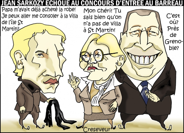 Jean Sarkozy échoue au barreau.JPG