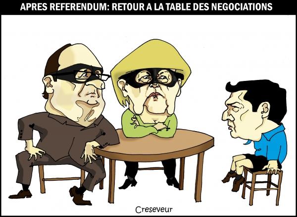 Tsipras revient à la table des négociations.JPG