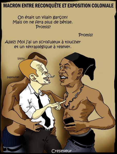 Macron en exposition coloniale.JPG