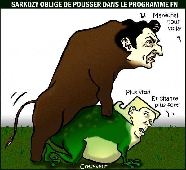 sarkozy,le pen,fn,ump,présidentielles,2012,second tour,dessin de presse