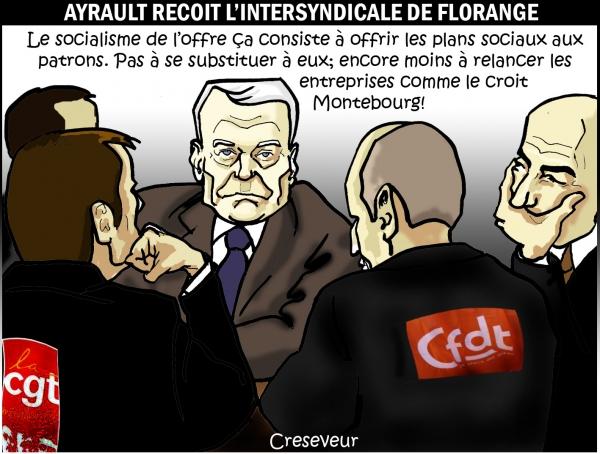 Ayrault reçoit l'intersyndicale de Florange.jpg