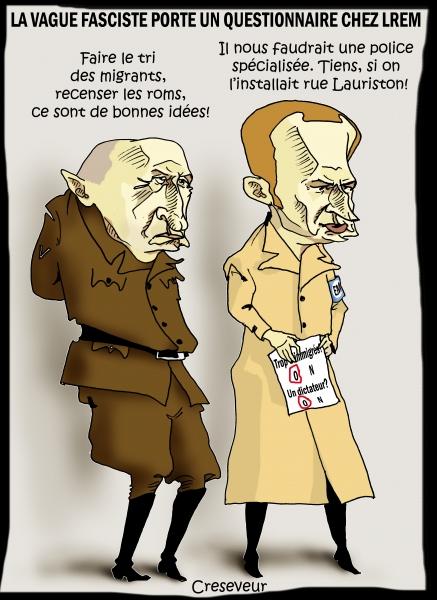 Macron et le fascisme rampant.JPG