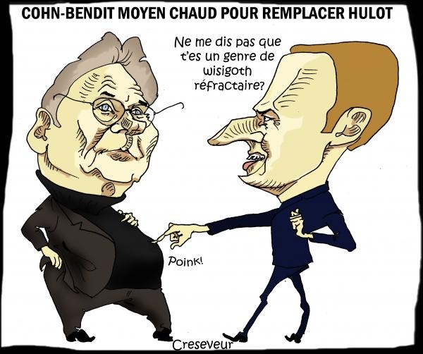 Cohn-Bendit testé pour remplacer Hulot.JPG