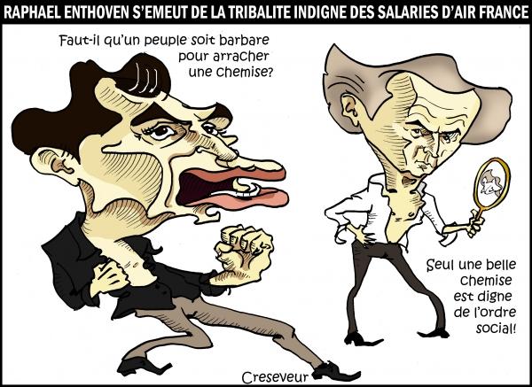 Enthoven indigné par les salariés d'Air France.JPG