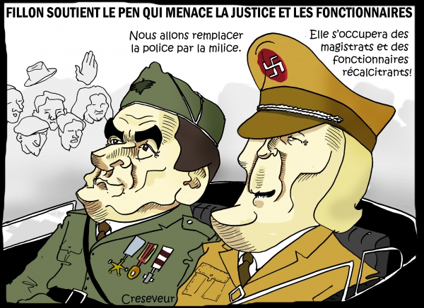Fillon et Le Pen contre la justice.JPG