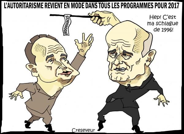 Copé et Juppé veulent gouverner à la schlague.JPG
