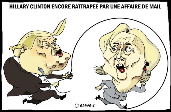 Clinton encore compromise par affaire de mails.JPG