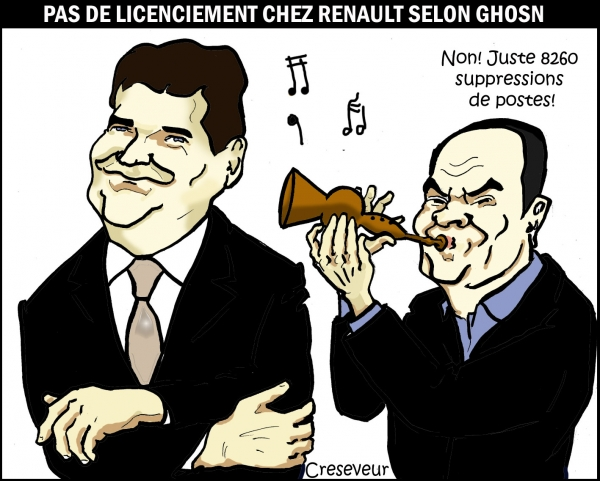 Ghosn licencie sans plan social  .JPG