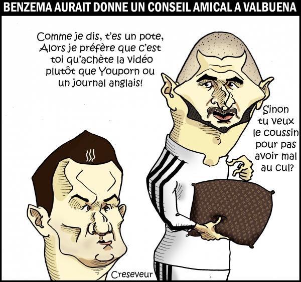 Benzema le coussin Vuitton et la sextape.JPG