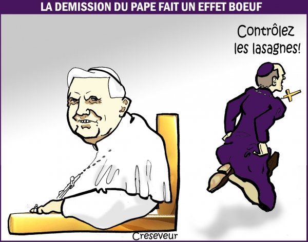 Le pape démissionne .JPG