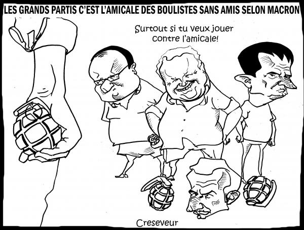 Macron la politique les amis et les boules.JPG