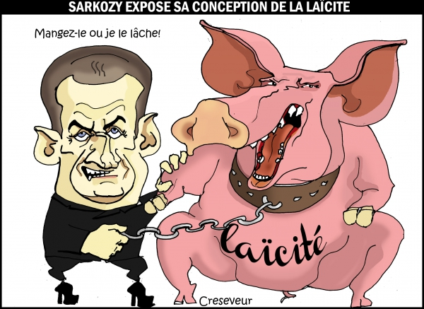 Sarkozy et la laïcité.JPG