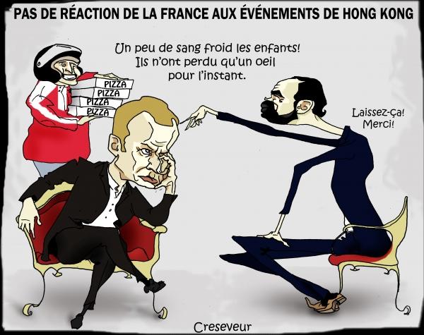 Macron ne réagit pas à la répression Honk Kong.jpg