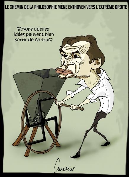 le pen,raphaël enthoven,extrême droite,plutôt hitler que le front populaire,dessin de presse,caricature