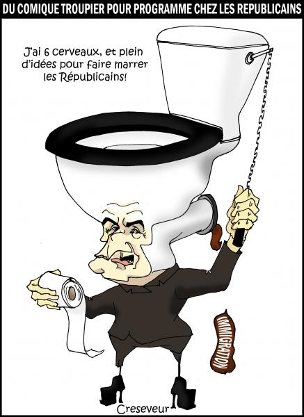 Sarkozy relance le comique troupier.JPG