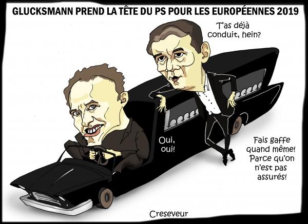 Glucksmann prend la tête de liste PS pour les Européennes2019.JPG