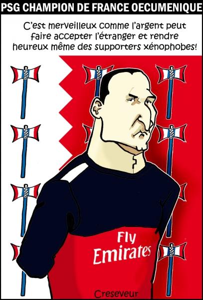 Ibrahimovic et le PSG champions de France.JPG