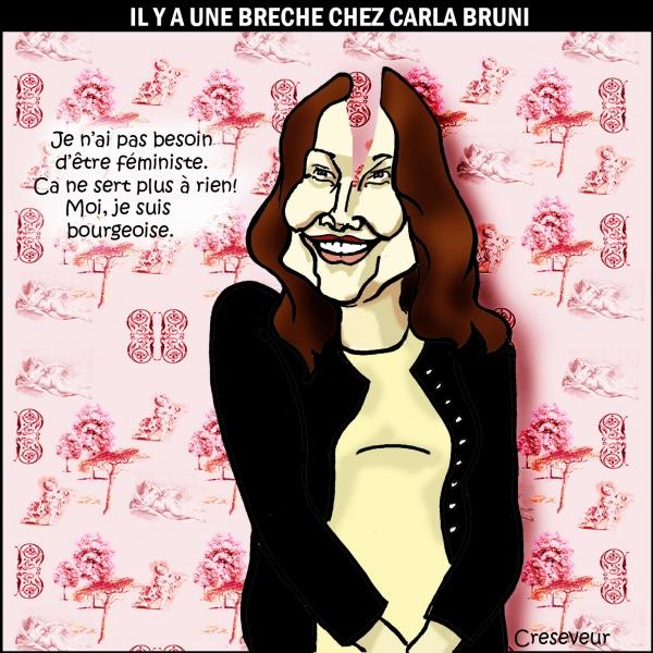 féminisme,carla bruni sarkozy,toile de jouy,bourgeoise,dessin de presse